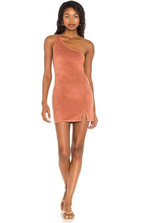 House of Harlow X Sofia Richie Leah Mini Dress in - Rust. Size L (also in XXS, XS, S, M).