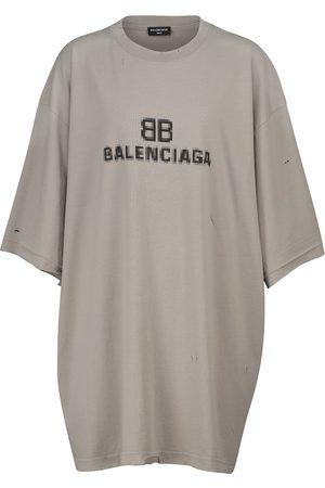Balenciaga T-shirt oversize in cotone con logo