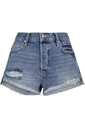 Frame Shorts di jeans Front Cuff a vita alta