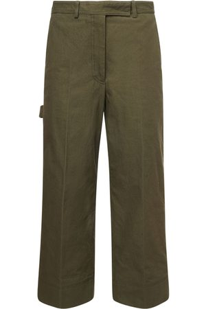 Thom Browne Pantaloni Cargo In Tela Di Cotone