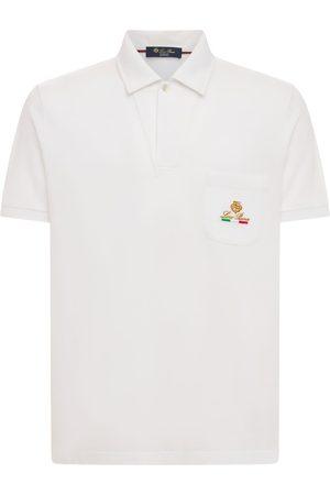 Loro Piana Polo In Cotone Piqué Con Logo