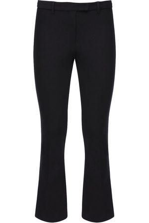 Max Mara Donna Stretch - Pantaloni Cropped In Twill Di Cotone Stretch