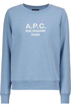A.P.C. Felpa Tina in cotone con logo