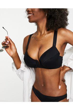 Figleaves Coppe Grandi - Rene - Top bikini con ferretto e scollo profondo a V