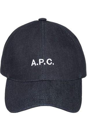 A.P.C. Cappello Baseball In Denim Con Logo