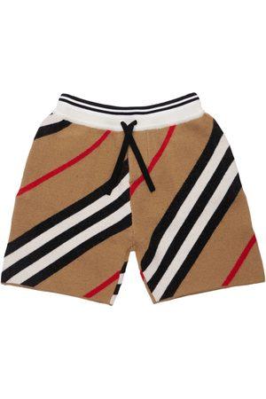 Burberry Shorts In Misto Lana Merino