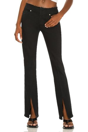 Frame Cut Off Waist Mini Boot Slit in - Black. Size 24 (also in 25, 26, 27, 28, 30).