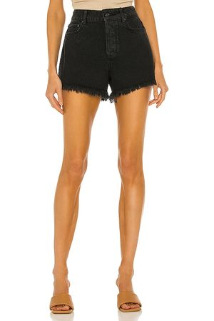 Paige Noella Cut Off Short in - Black. Size 23 (also in 24, 25, 26, 27, 28, 29, 30, 31).