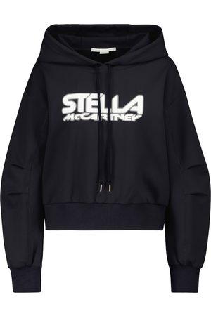 Stella McCartney Felpa in neoprene con cappuccio
