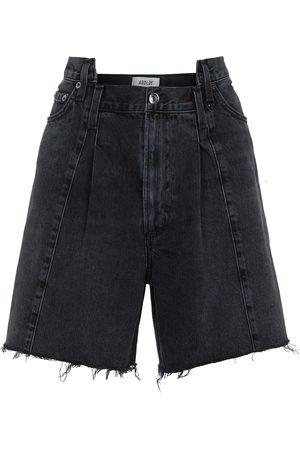 AGOLDE Shorts di jeans Pieced Angled a vita alta