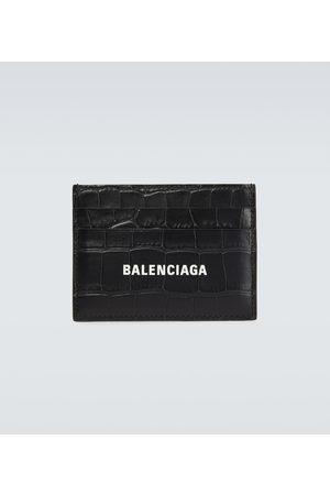 Balenciaga Portacarte in pelle con logo