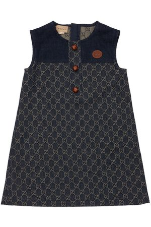 GUCCI Gg Jacquard Organic Denim Dress