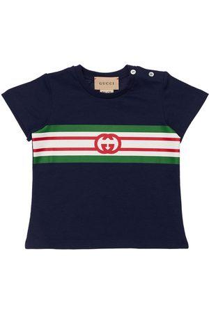 Gucci Logo Print Jersey T-shirt