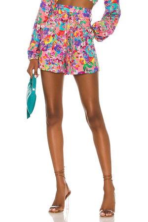 Luli Fama Donna Pantaloncini - Tie Waist Bermuda Shorts in - Pink. Size L (also in XS, S, M).