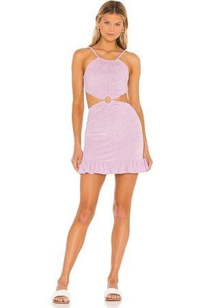 MAJORELLE Devyn Mini Dress in - Lavender. Size L (also in XXS, XS, S, M, XL).