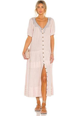 Free People Sunday Stroll Maxi Dress in - Blush. Size L (also in XS, S, M).