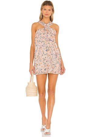 Lovers + Friends Jill Mini Dress in - Peach. Size L (also in XXS, XS, S, M, XL).