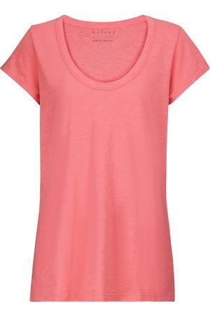 Velvet Donna T-shirt a maniche corte - T-shirt Kira in cotone