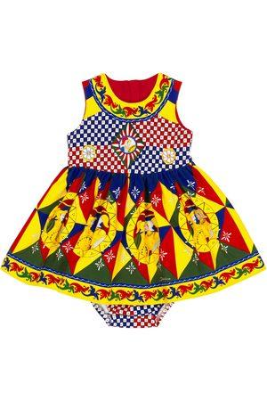 Dolce & Gabbana Baby - Abito e culottes in cotone stretch