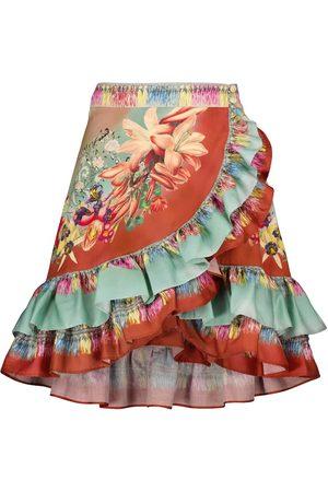 Etro Donna Minigonne - Minigonna in cotone con stampa floreale