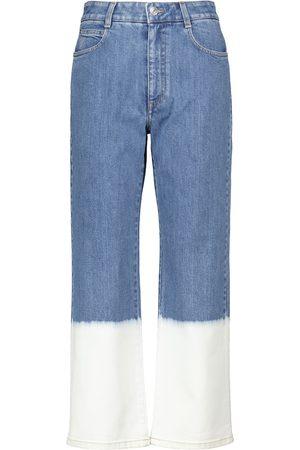 Stella McCartney Jeans regular cropped a vita alta