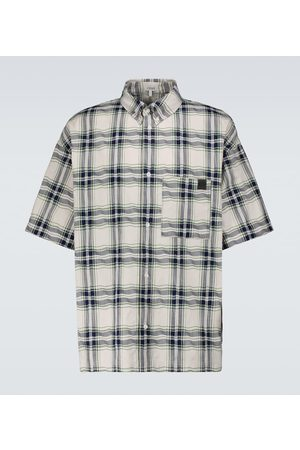 Loewe Camicia patchwork a maniche corte