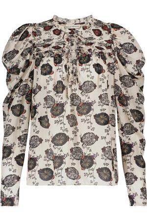 ULLA JOHNSON Donna Bluse - Blusa Bevin misto cotone con stampa floreale