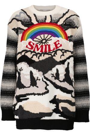 Stella McCartney Donna Maglioni - Pullover in lana e cotone con intarsi