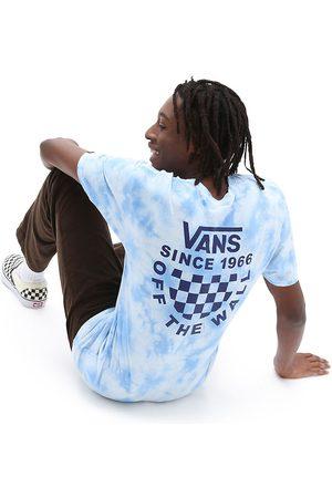 Vans Maglietta Checker Logo Tie Dye (nautical Blue) Uomo