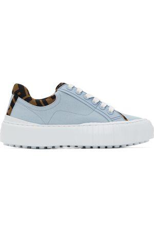 Fendi Blue Canvas ' Force' Sneakers