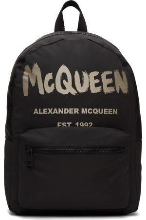 Alexander McQueen Black & Beige Metropolitan Backpack