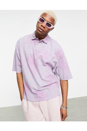 ASOS DESIGN Polo oversize in piqué tie-dye