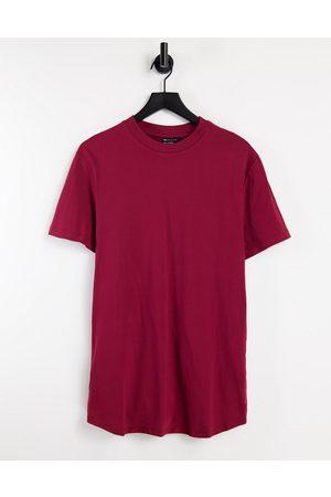 ASOS DESIGN Uomo T-shirt a maniche lunghe - T-shirt attillata a maniche lunghe bordeaux