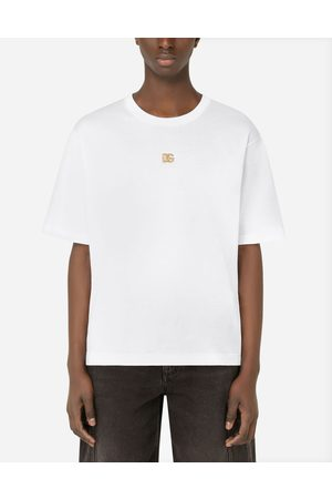 Dolce & Gabbana Uomo Polo - T-shirts e Polo - T-shirt cotone con logo DG male 42
