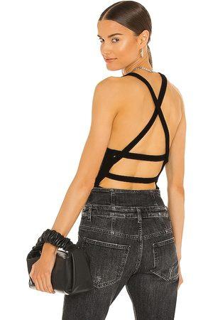 AGOLDE Donna Body - Nova Banded Back Bodysuit in - . Size L (also in XS, S, M, XL).