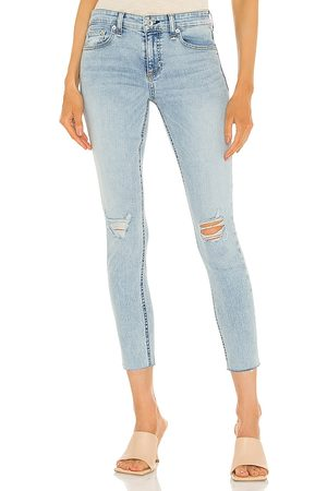 RAG&BONE Donna Skinny - Cate Mid Rise Ankle Skinny Jean in - Blue. Size 23 (also in 24, 25, 26, 27, 28, 29, 30).