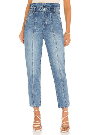 BLANKNYC Paper Bag Pant in - Blue. Size 24 (also in 25, 26, 27, 28, 29, 30, 31).