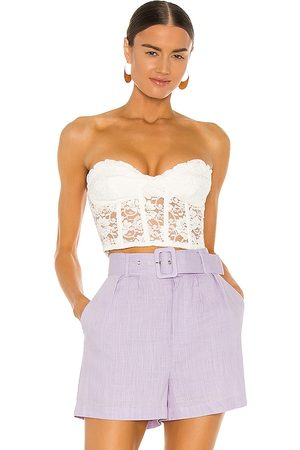 Bardot Lace Corset Bustier in - . Size L (also in S, XS, M).