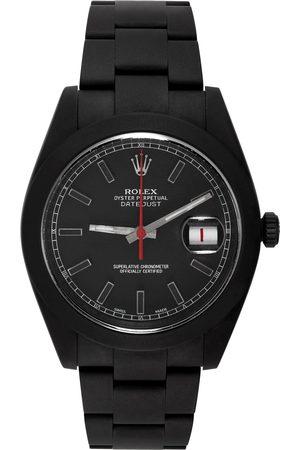 MAD Paris Black & Red Customized Rolex Datehust II Watch