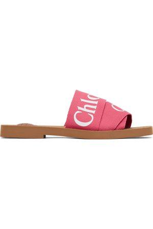Chloé Pink Woody Flat Mules