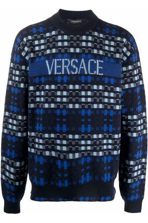 Versace Maglione con effetto jacquard