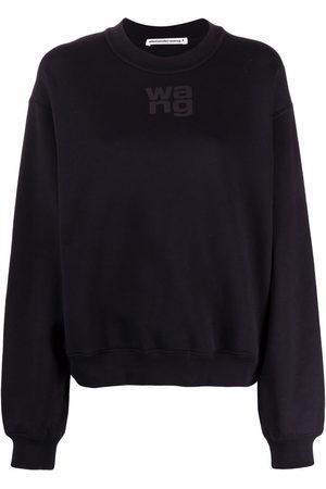 Alexander Wang Logo-print crew neck sweatshirt
