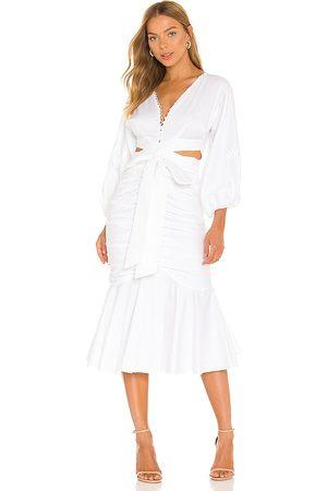 AMUR Malika Midi Dress in - . Size 0 (also in 2, 4, 6, 8, 10).