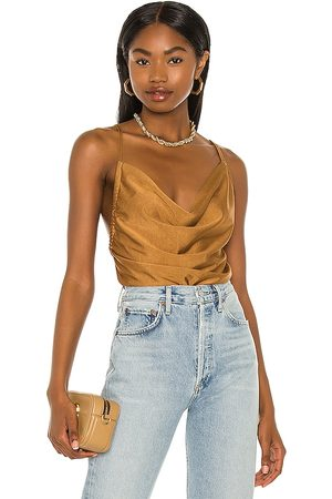 Minkpink Yuli Cowl Cami Top in - Metallic . Size L (also in S, XS, M).
