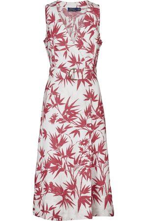 Polo Ralph Lauren Maxi abito in lino a fiori
