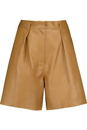 PETAR PETROV Donna Pantaloncini - Shorts Gisa in pelle a vita alta