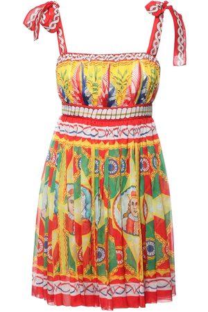Dolce & Gabbana Vestito In Chiffon Di Seta Stampato