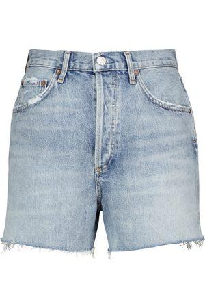 AGOLDE Shorts di jeans Dee a vita alta