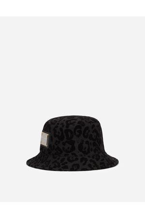 Dolce & Gabbana Cappelli e Guanti - Cappello pescatore stampa leopardo floccata male 58
