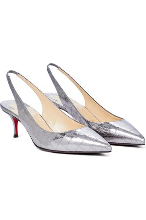 Christian Louboutin Pumps slingback Kate 55 in pelle stampata